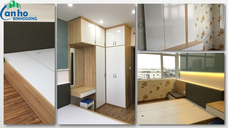 Căn hộ chung cư The Habitat cho thuê đầy đủ tiện nghi, tầng 8, diện tích 62 m2 thiết kế 2 Pn