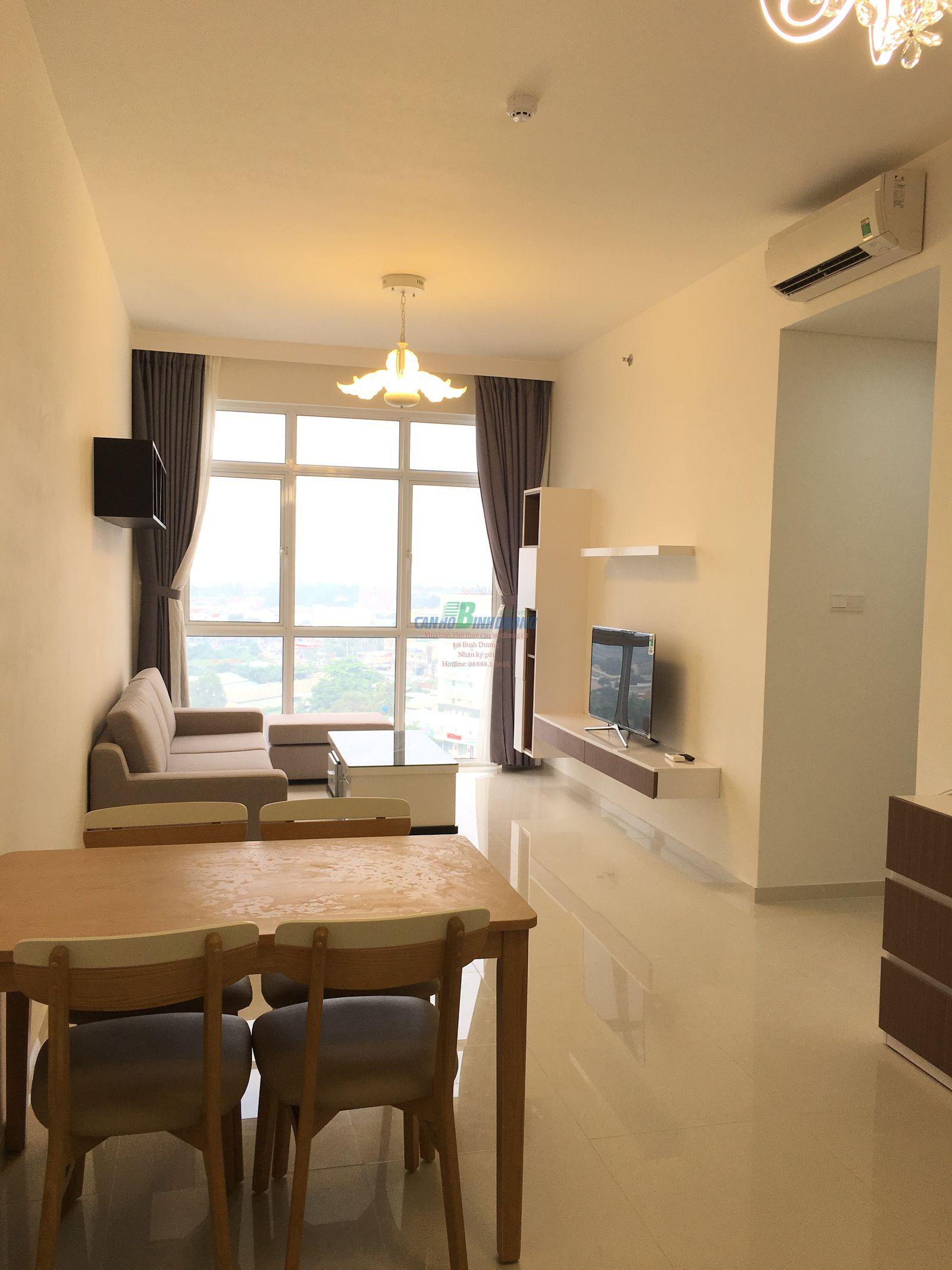 Bán căn hộ Habitat Bình Dương Block A Tầng 15, 2 phòng ngủ full nội thất
