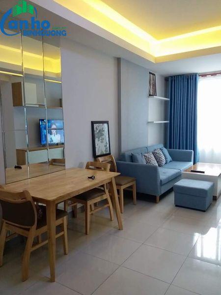 Cho thuê căn hộ tại chung cư The Habitat Bình Dương, Tk 2 phòng ngủ, 2 WC tại tầng 06 tòa nhà A1