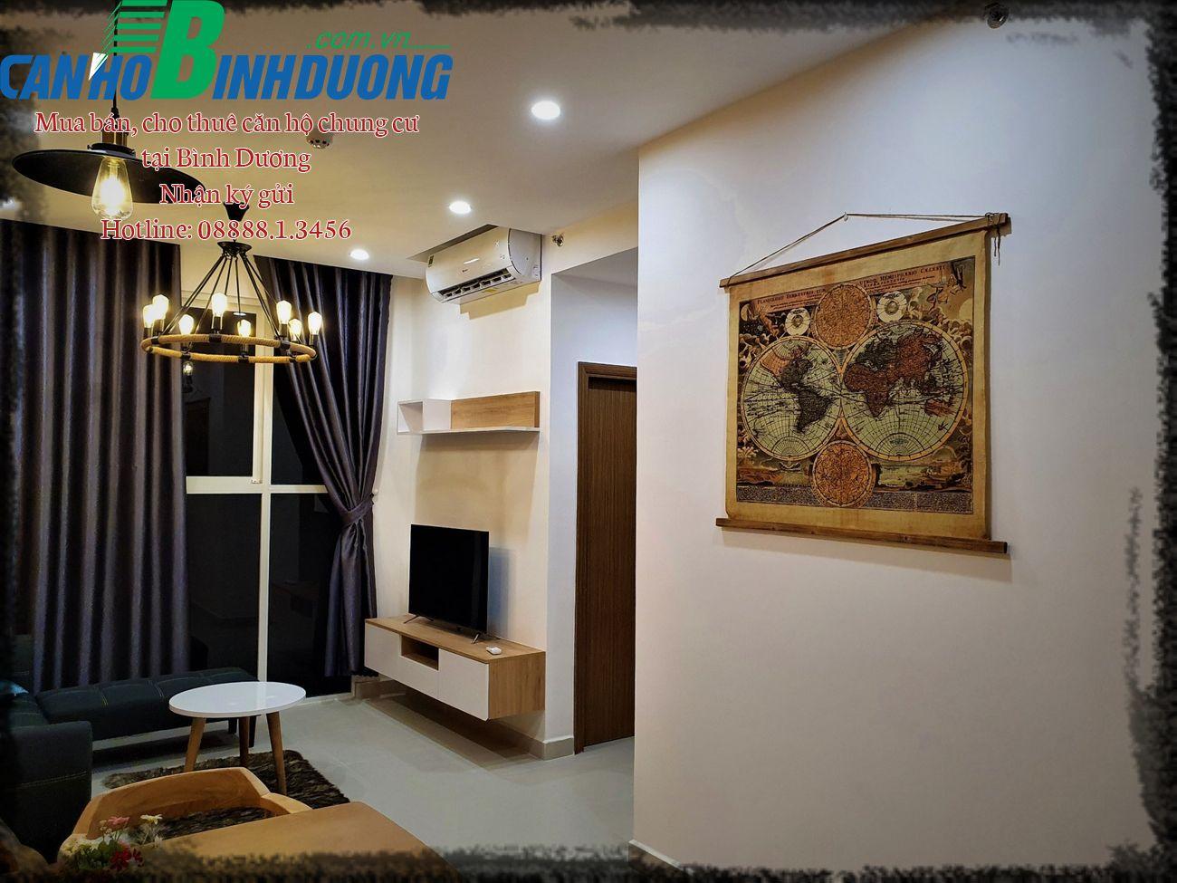 Cho thuê căn hộ Habitat Hình Dương tháp B3 tầng 15 full nội thất