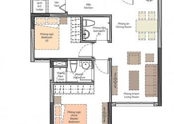 The Habitat Bình Dương Giai đoạn 2 - Layout căn hộ