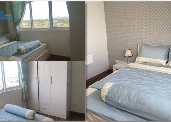 Căn hộ 2 phòng ngủ lớn có ban công có nội thất cho thuê, tầng 7 view công viên