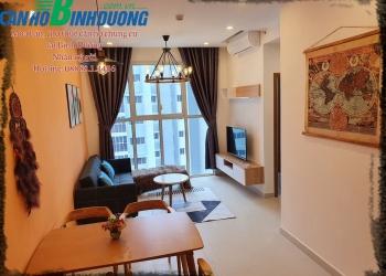 Căn hộ Habitat Bình Dương 62 m2, 2 phòng ngủ, tầng 12A view ĐLBD, trang bị đây đủ nội thất cho thuê